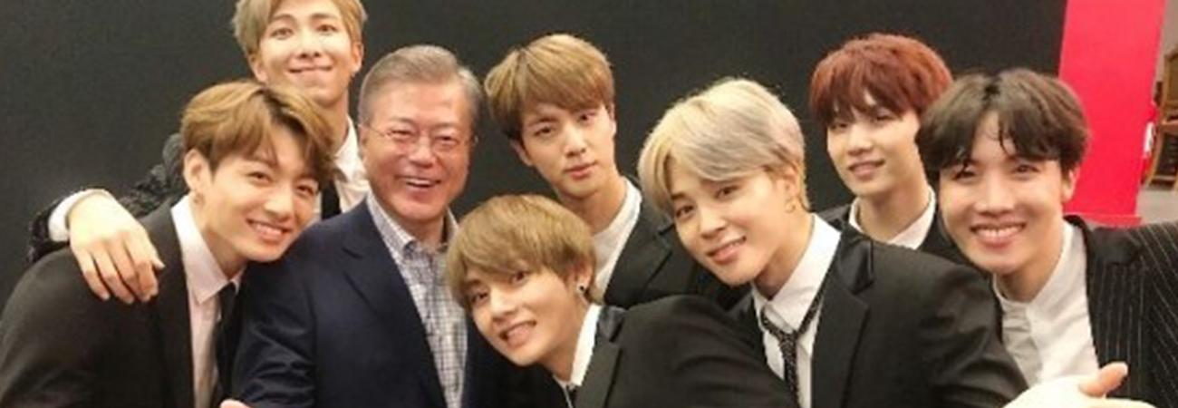 Presidente de Corea envía un mensaje a BTS por su #1 en el Hot 100 de Billboard
