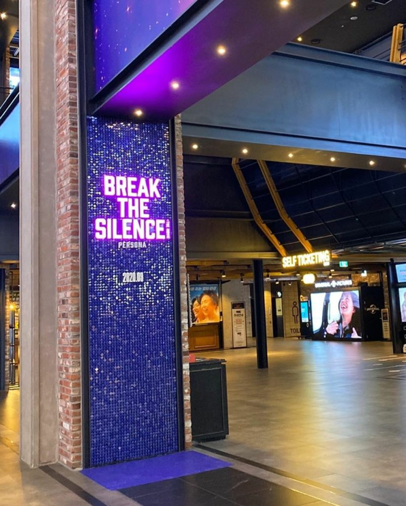 Mira como los cines de Corea decoran sus instalaciones para Break The Silence: Persona