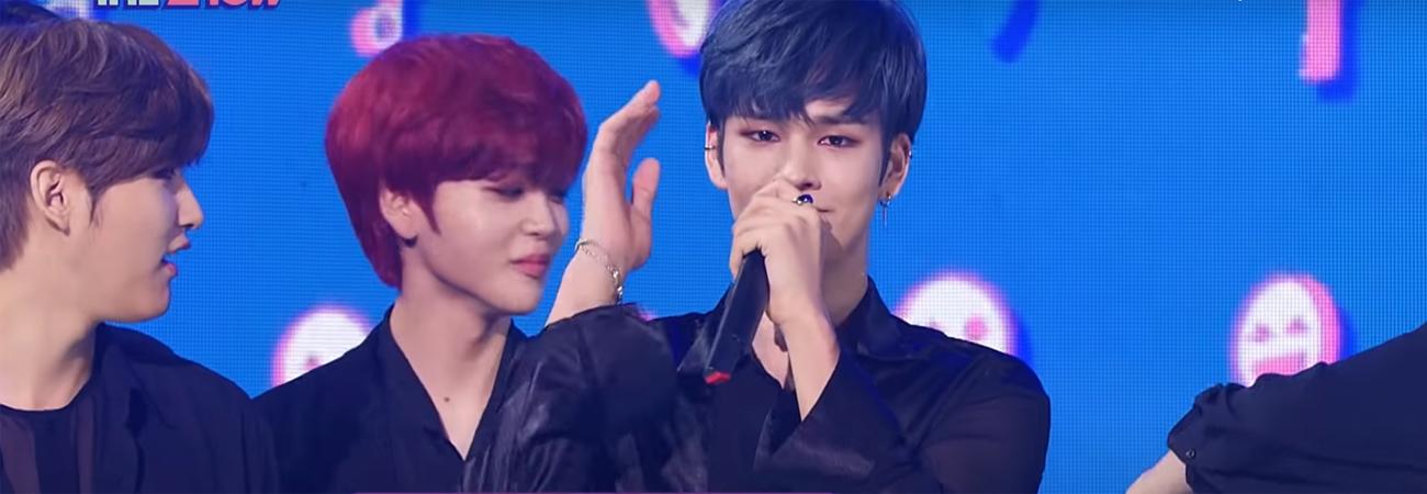CRAVITY llorar al ganar en el programa de kpop The Show con Flame
