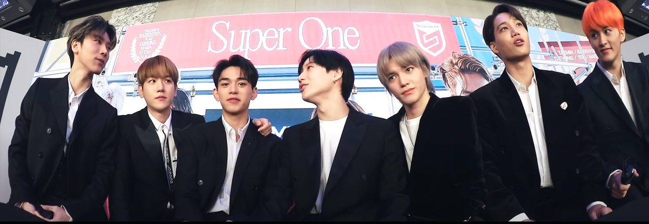Mira como es la reacción de SuperM al ver el MV One (Monster & Infinity)