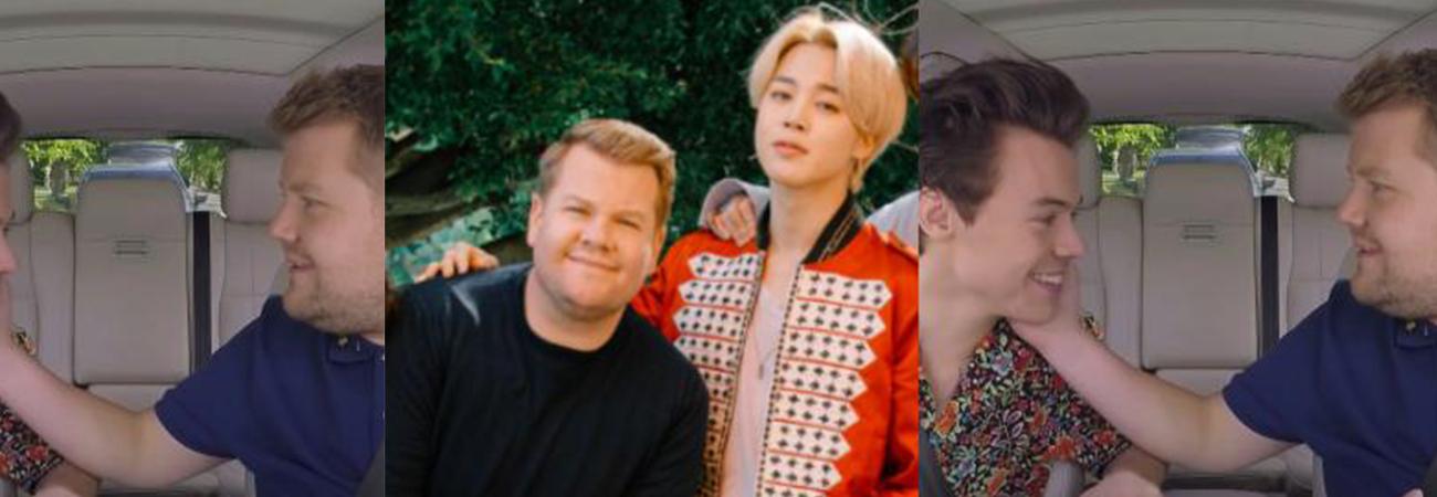 Piden a James Corden que elija entre Harry Styles y Jimin de BTS