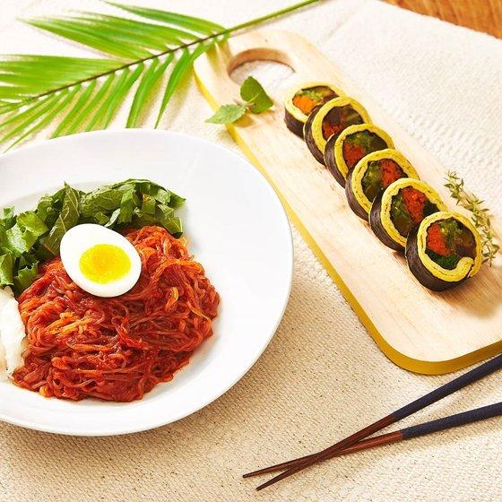 Kimbap sin arroz platillo