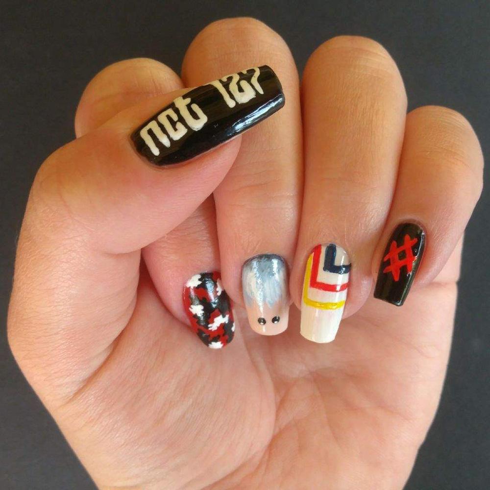 nail art de nct 127