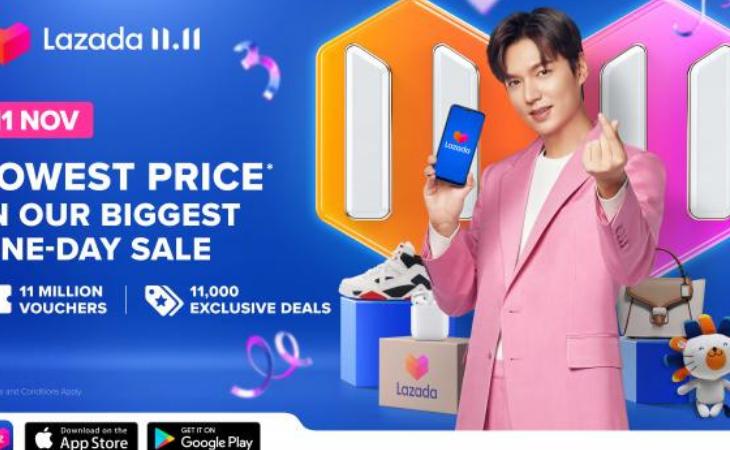 Lee Min Ho será parte del festival de compras 11:11 de LAZADA