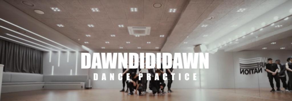 Sigue el ritmo en el dance practice de DAWNDIDIDAWN con DAWN