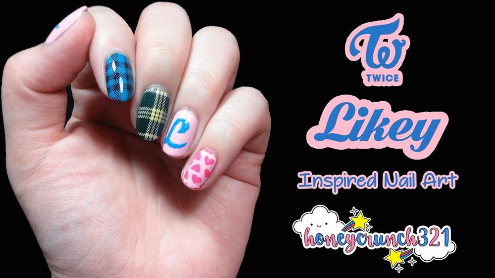 nail art Twice Likey