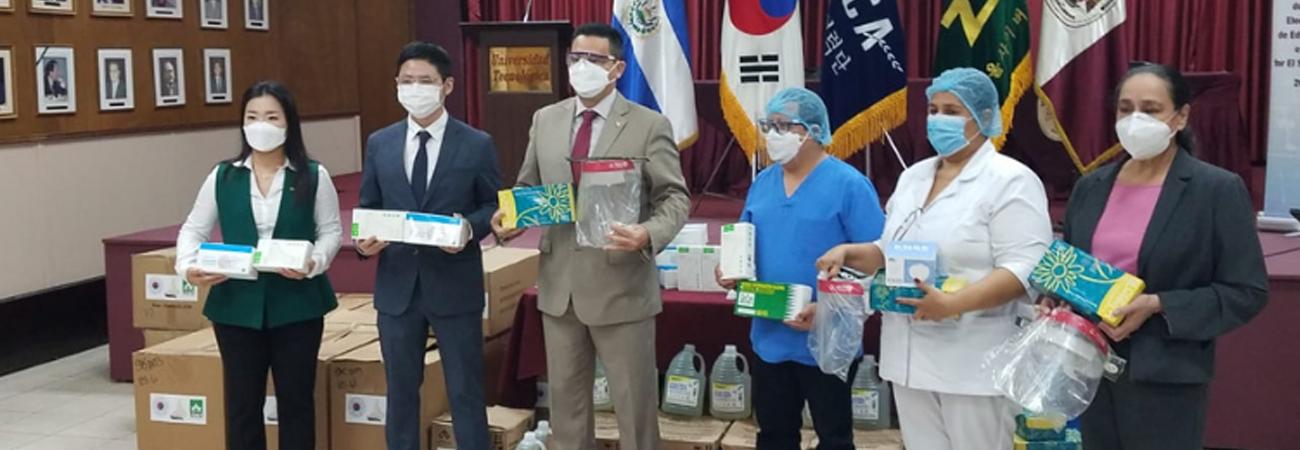 KOICA de El Salvador realiza donación de insumos para la prevención del Covid-19 a Universidad Tecnológica de El Salvador