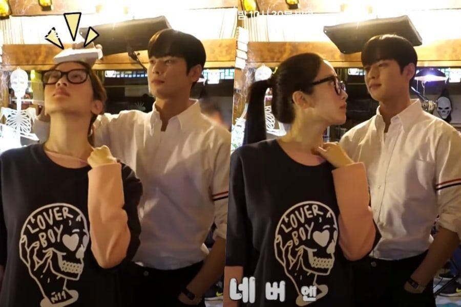 Cha Eun Woo de ASTRO no puede dejar de burlarse de Moon Ga Young detrás de cámaras de