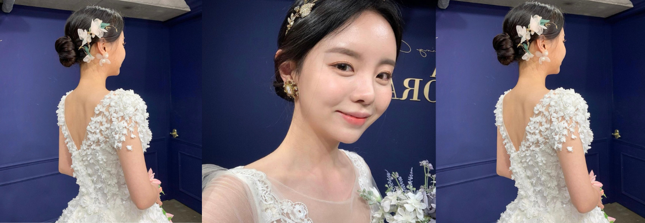 Mejiwoo, herma de J-Hope de BTS comparte sus primeras fotos vestida de novia
