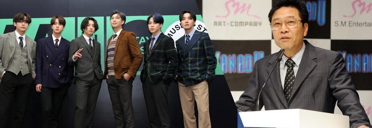 Fundador de SM, Lee Soo Man es atacado por afirmar estar detrás del éxito de BTS