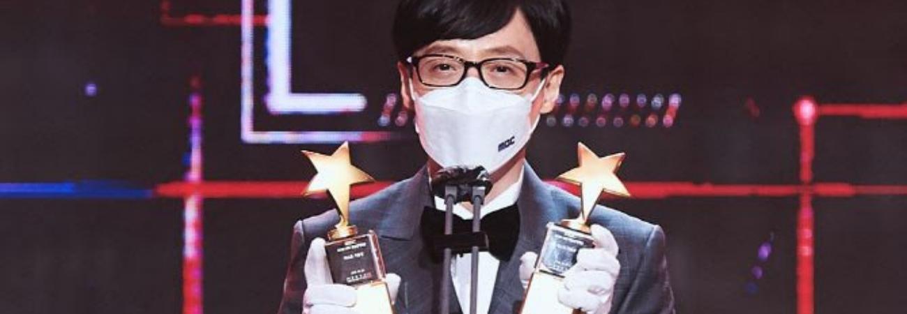 Yoo Jae Suk gana un Daesang en los '2020 MBC Entertainment Awards'