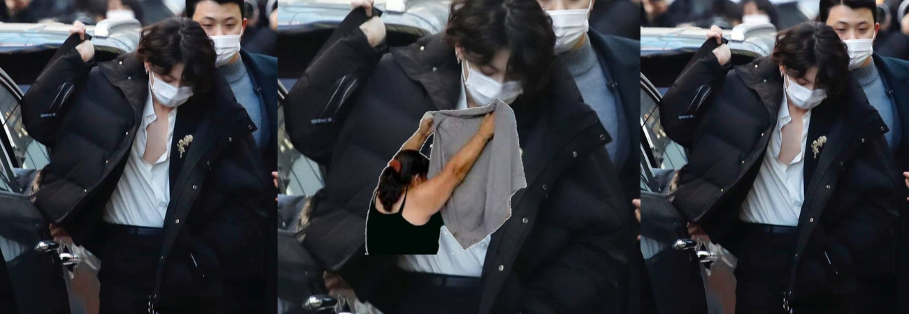 Jungkook y su camisa abierta se hacen tendencia tras su llegada al '2020 KBS Gayo Daechukje'