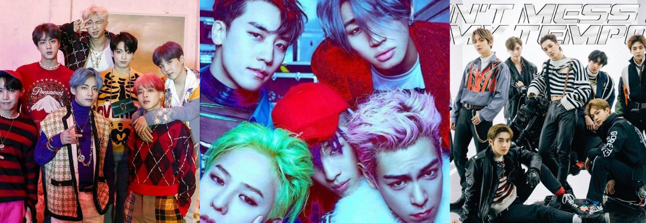 Grupos de K-pop con la mayor cantidad de 'Daesangs' en los MAMA a lo largo de los años