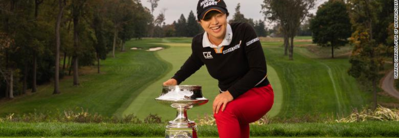 Golfista triunfa en el Campeonato PGA Femenino y revela que BTS fue su inspiración