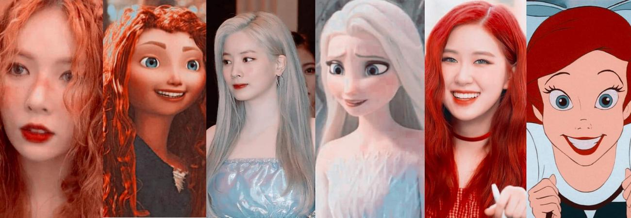 Idols K-pop como personajes de películas animadas