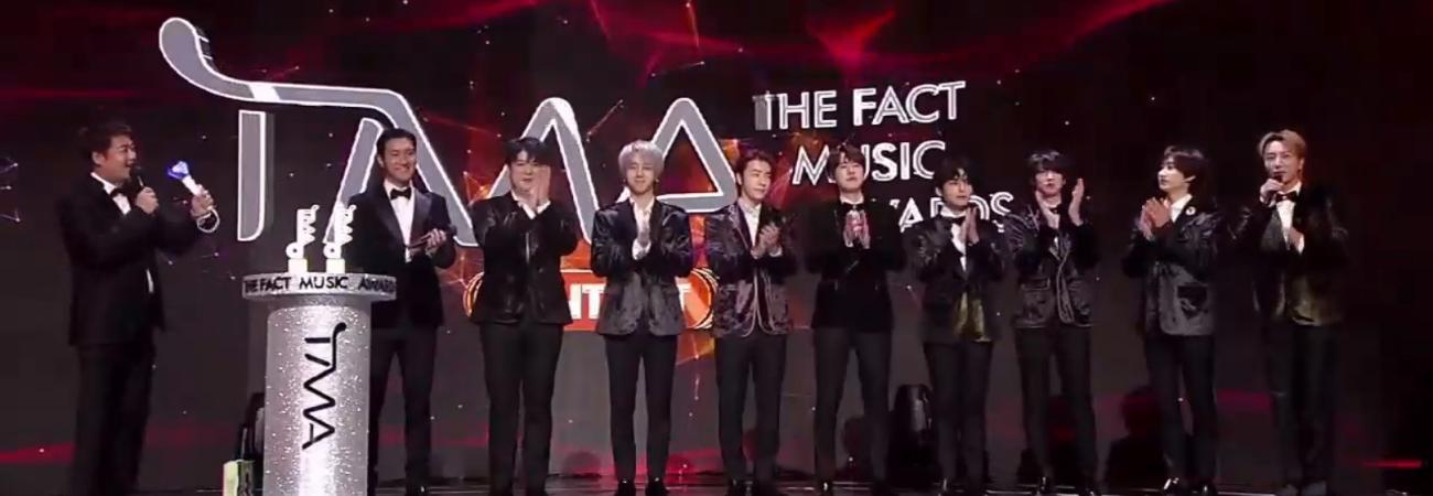 Super Junior gana en la categoría 'Fan's Choice Artist' de los TMA 2020