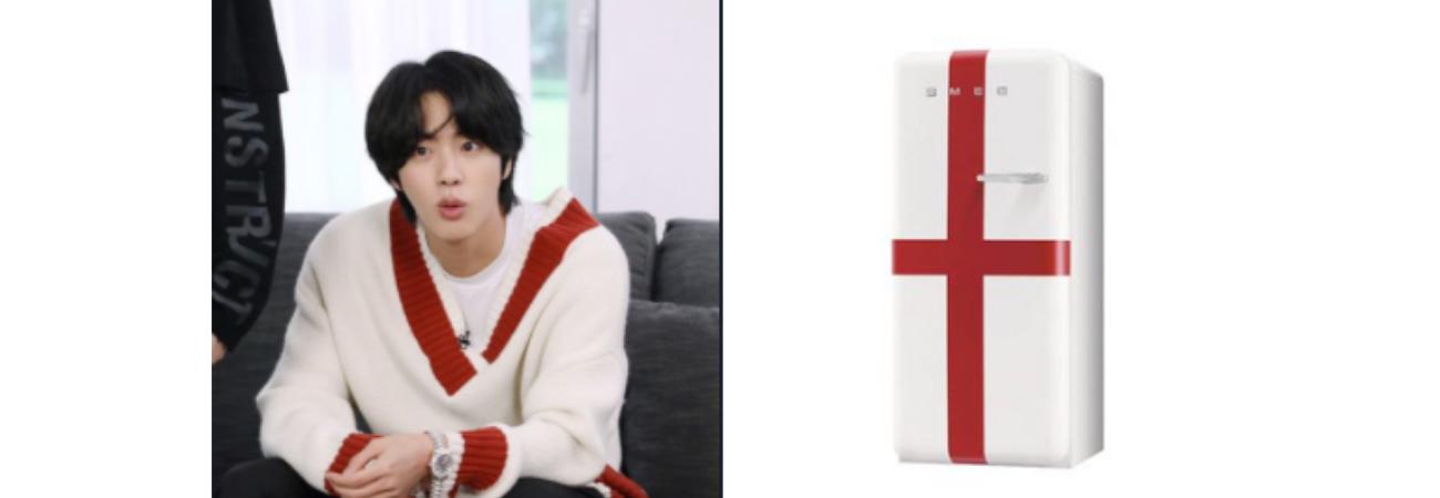 Netizens desconcertados por cuenta fandom que compara a Jin de BTS con un refrigerador