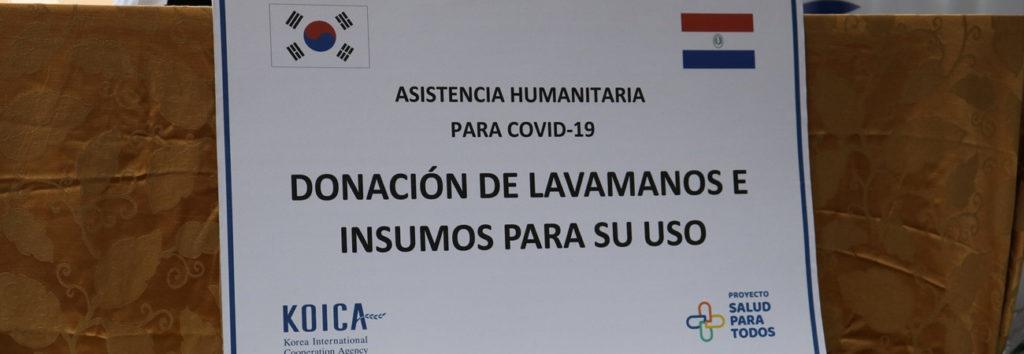 KOICA dona lavamanos para el proyecto Salud Para Todos para combatir el COVID19