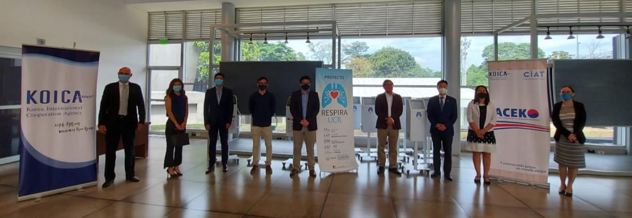 KOICA dona a Costa Rica ventiladora para combatir el COVID-19