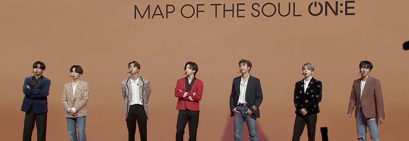 Estos son los mensajes de BTS que colocaron en en la tarjeta Pop-Up de Map Of The Soul ON:E