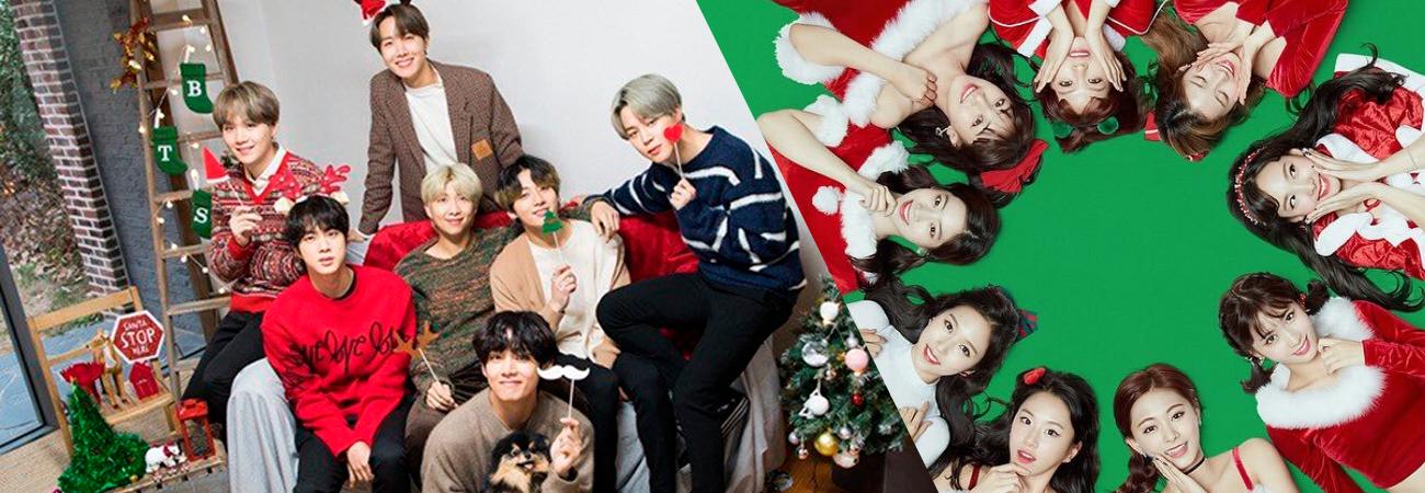 BTS e TWICE escolhidos como os grupos com os quais as pessoas querem celebrar o Natal