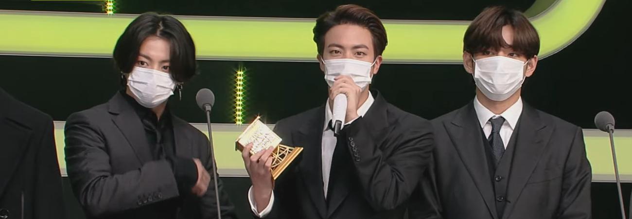 BTS gana en la categoria Mejor Grupo Masculino en los MAMA 2020
