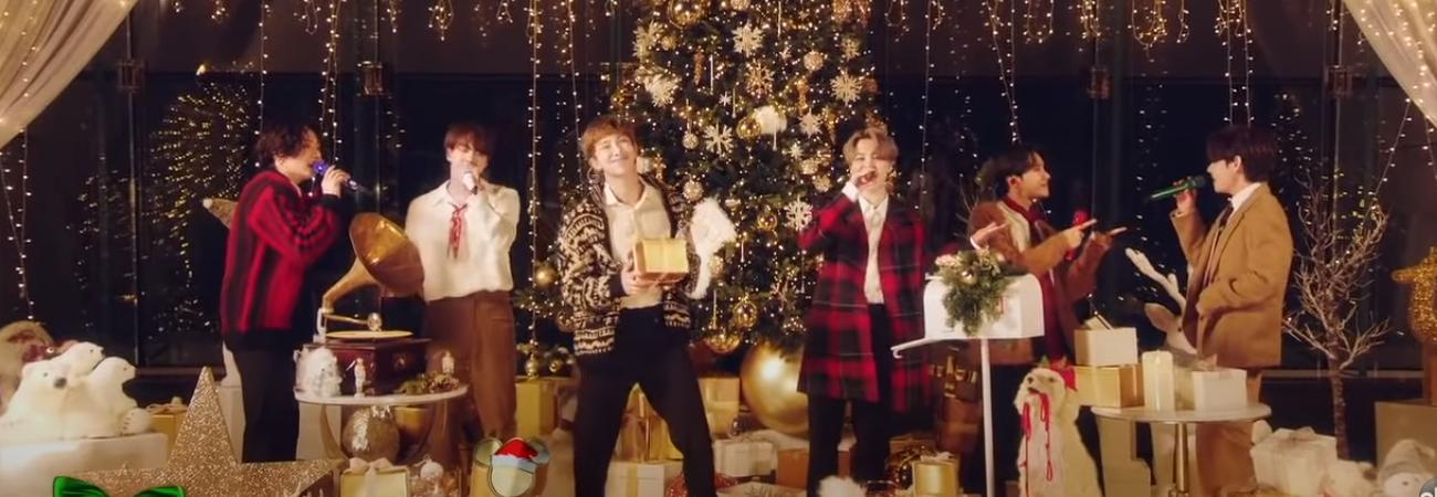 Sin Suga, BTS interpreta la canción navideña 'Santa Claus Is Comin' to town'
