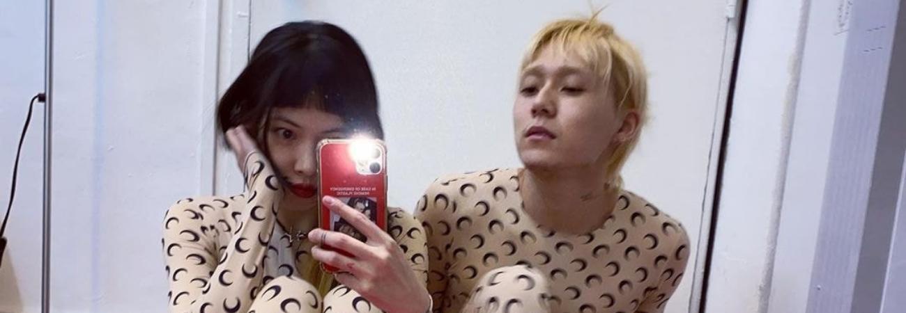 Netizens sorprendidos por el conjunto de ropa de HyunA y su novio E-Dawn