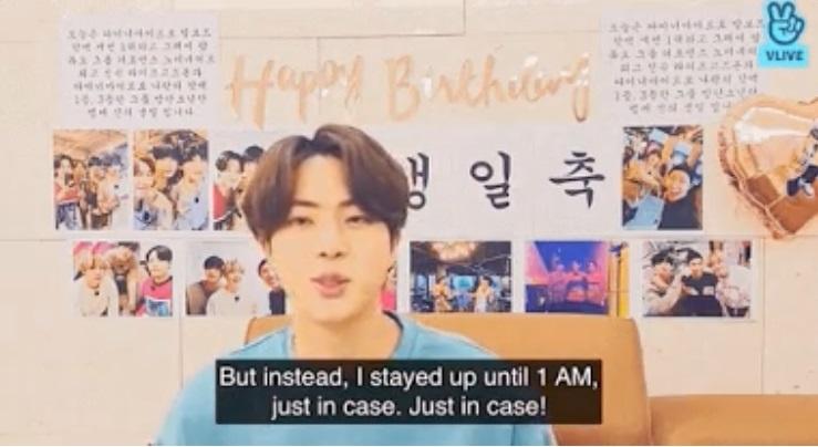 Jin de BTS revela el conmovedor gesto que hizo V  por su cumpleaños