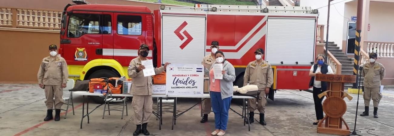 KOICA realiza donación para los bomberos de Honduras