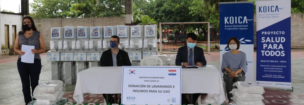 """KOICA dona insumo a Paraguay para la campaña """"Limpio, Libre de Covid-19"""""""