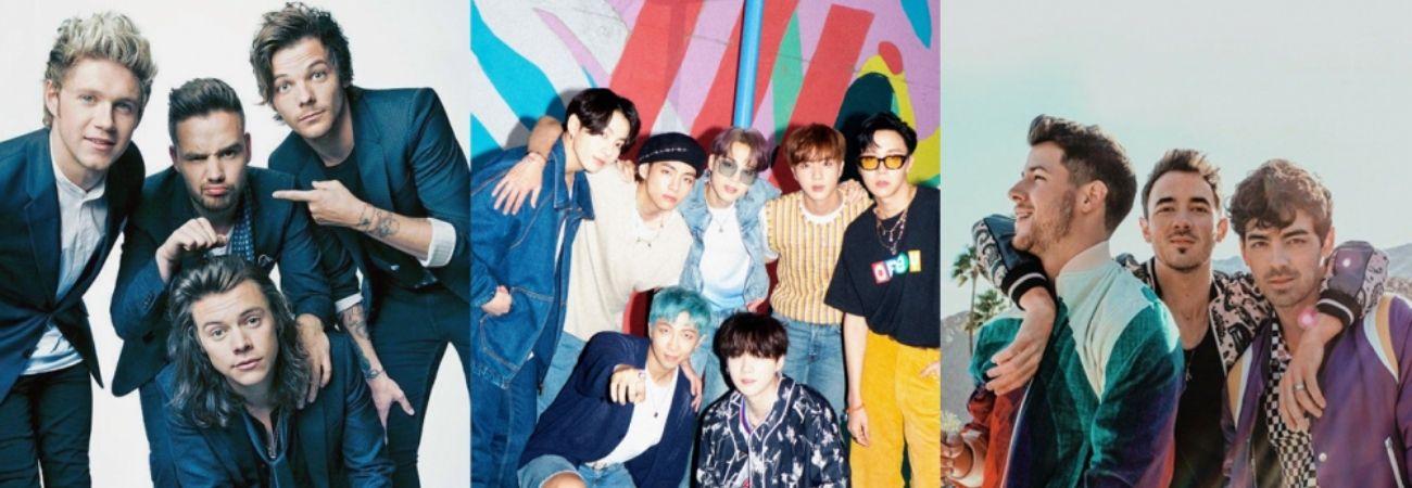 Boy Bands en la historia de los Billboard: ¿en qúe posición está BTS?