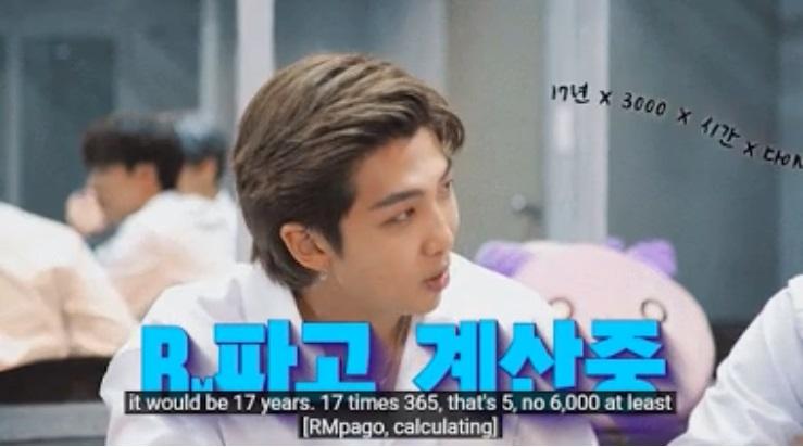 RM de BTS rectifica que es un genio al resolver este problemas de matemáticas