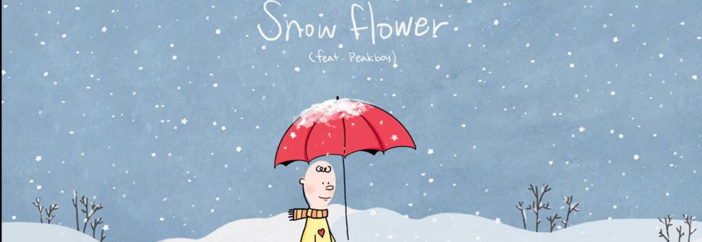 V de BTS revela su canción navideña Snow Flower (feat. Peakboy)