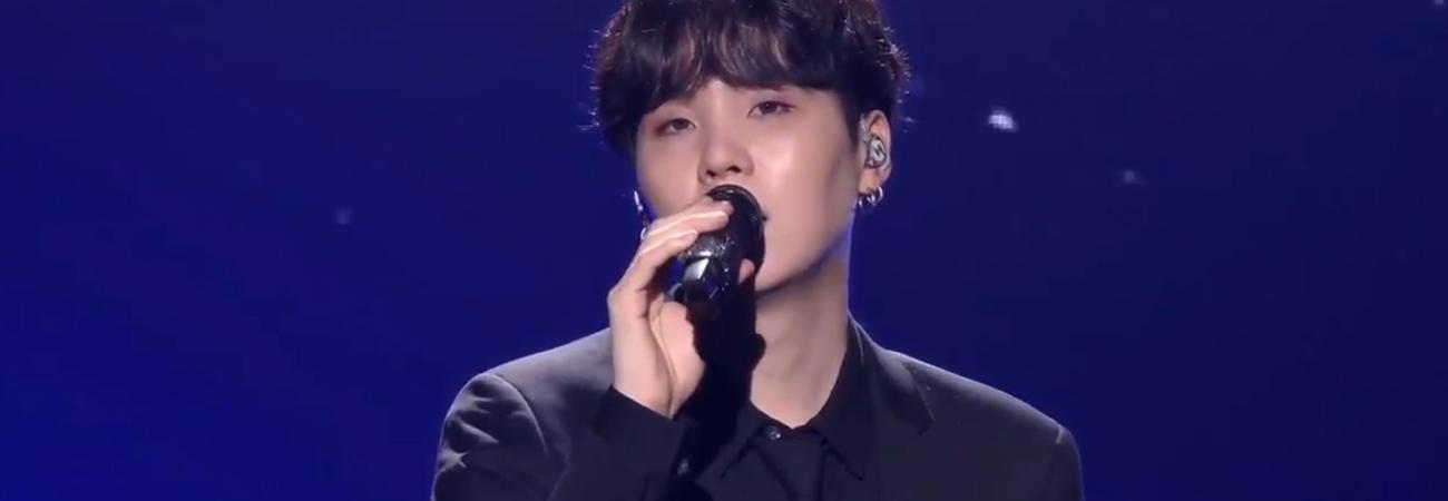 Este fue el discurso de Suga de BTS durante el 2021 New Year Eve Live