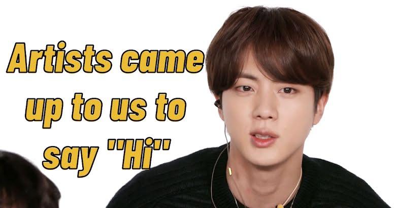 Jin de BTS revela lo que las celebridades les preguntaron cuando asistieron a los GRAMMY 2020