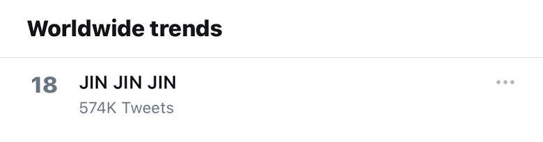 "Las palabras ""JIN JIN JIN"" se vuelven tendencia en Twitter por esta razón"