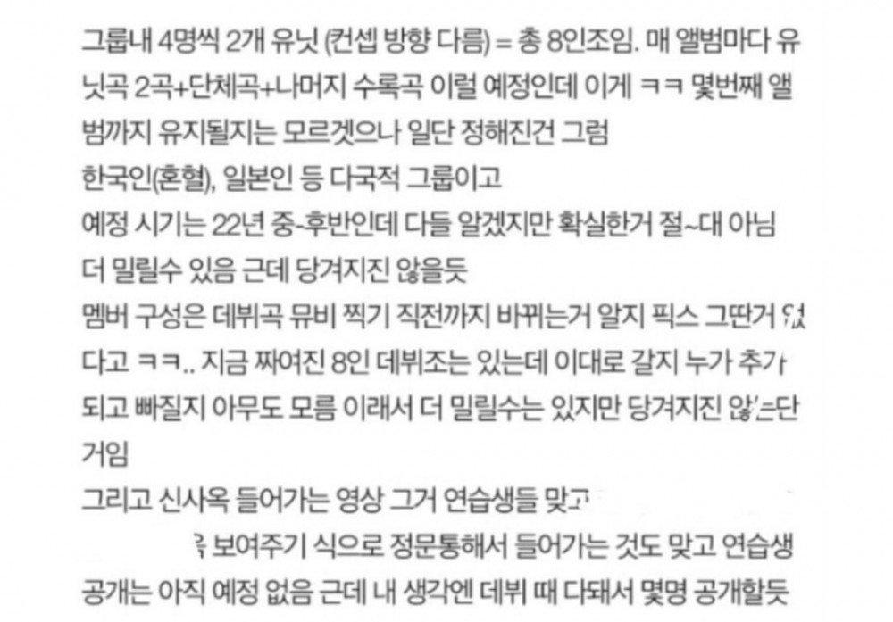 Nuevo grupo de chicas de YG Entertainment debutaría en dos unidades