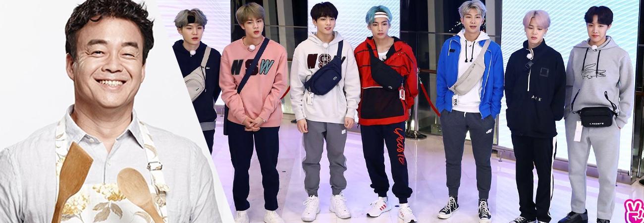"""BTS colaborara con el chef Baek Jong Won en """"Run BTS!"""