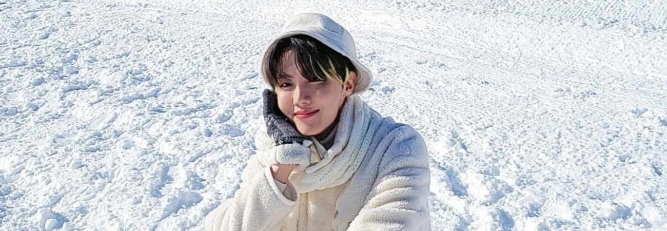 J-Hope de BTS saluda a ARMY con dulces fotos de invierno