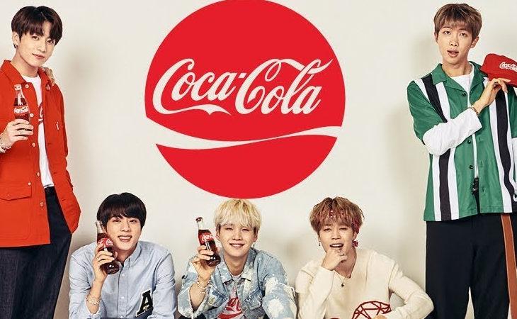 Según funcionarios de Coca-Cola, BTS ha firmado un contrato global