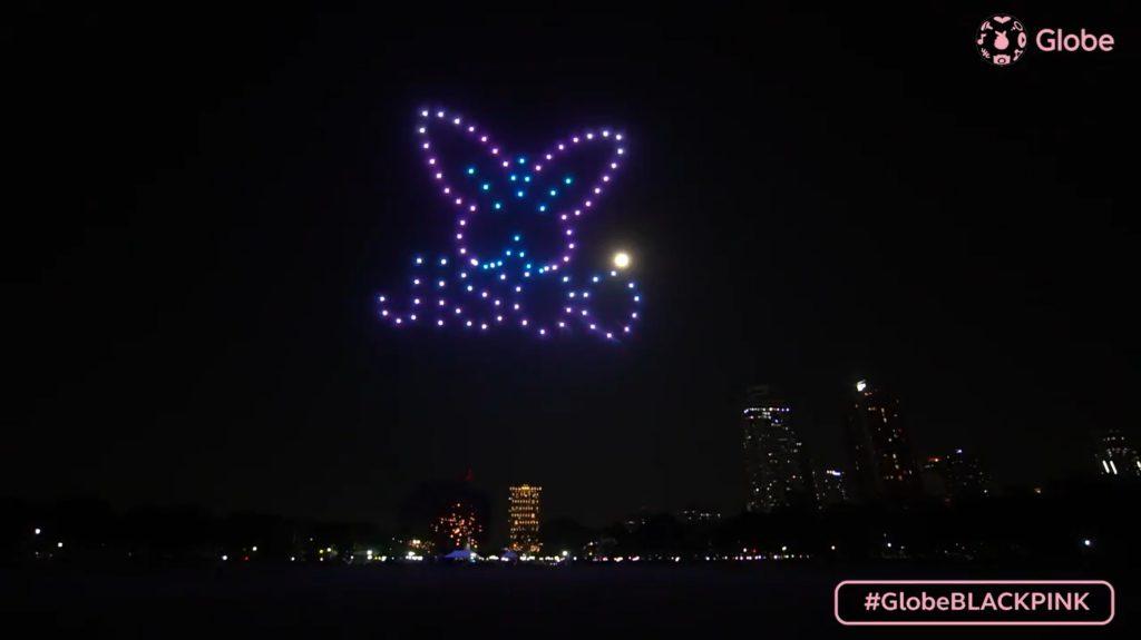 Globe Telecom dedica un show de drones a BLACKPINK en celebración del concierto 'THE SHOW'