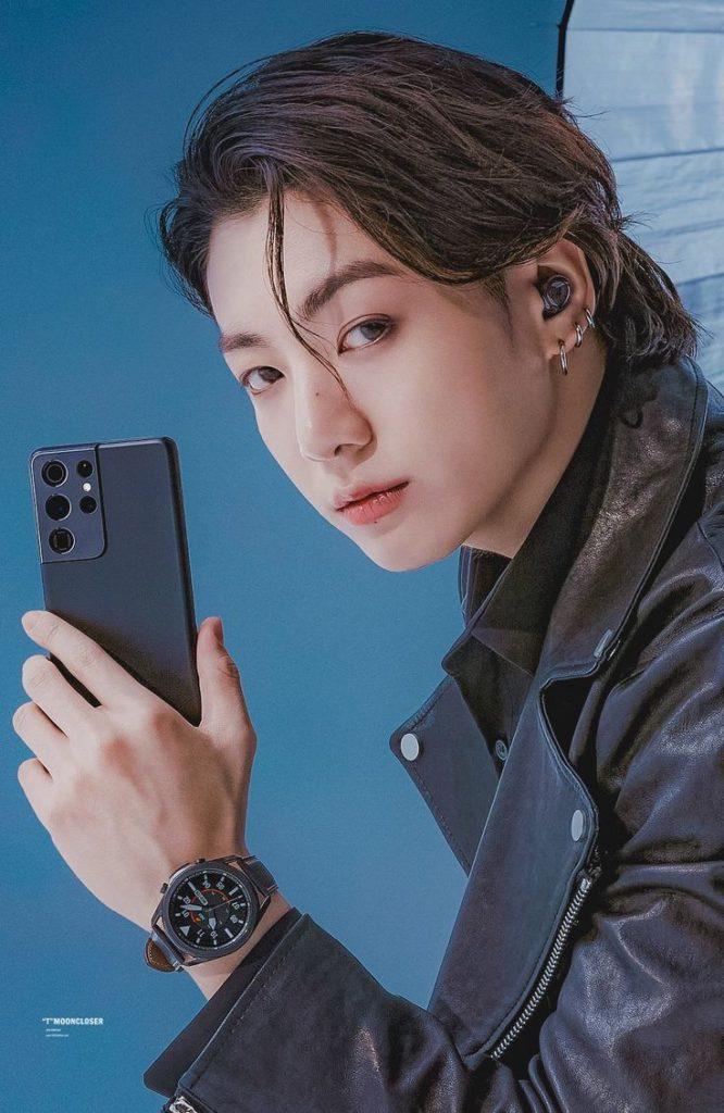Samsung Brasil admira la belleza de Jungkook de BTS