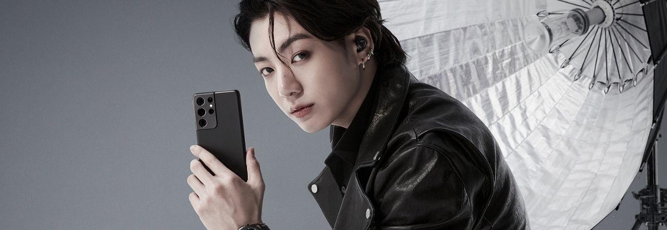 Samsung Brasil admira a beleza do Jungkook da BTS