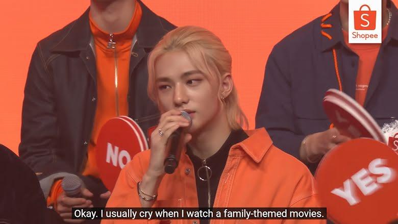 Hyunjin de Stray Kids revela que se conmueve hasta las lágrimas con este tipo de películas