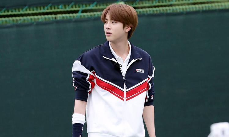 Jin de BTS se convierte en el principe del tenis