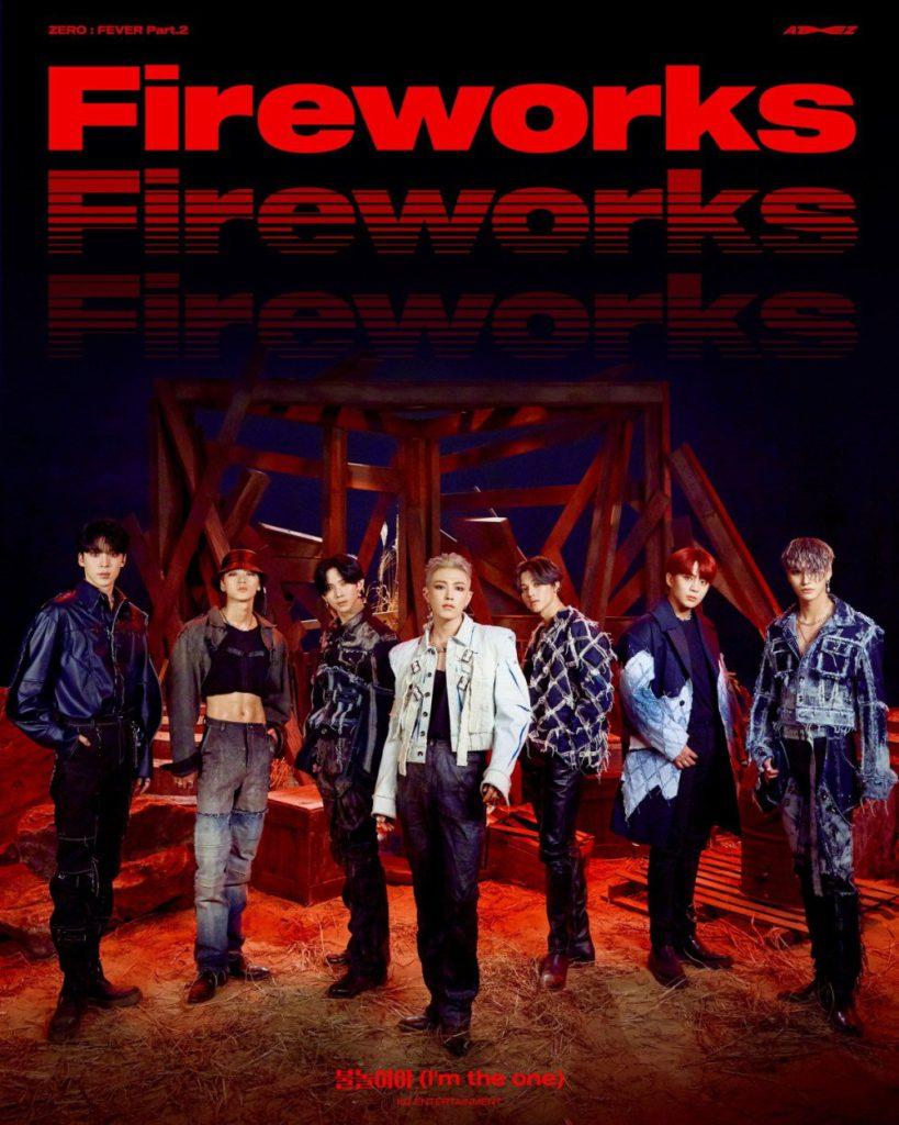 ATEEZ adopta una imagen rebelde en el póster para su nueva canción 'Fireworks'