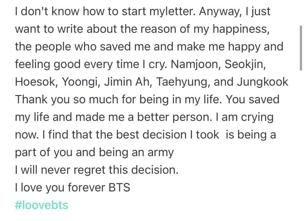 Jimin de BTS agradece a ARMY por todo su amor a través de Weverse