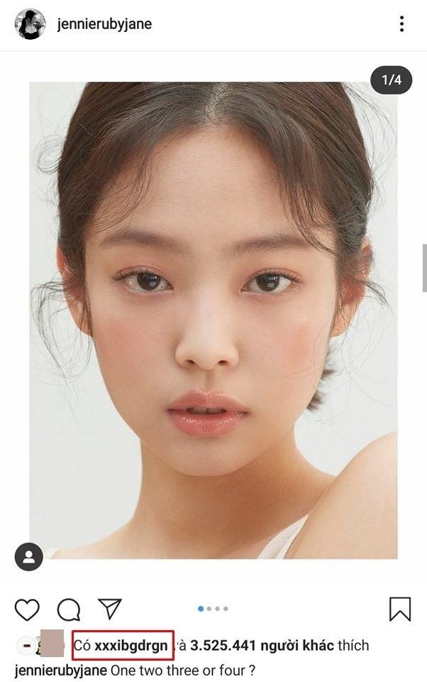 Publicación de Jennie en Instagram