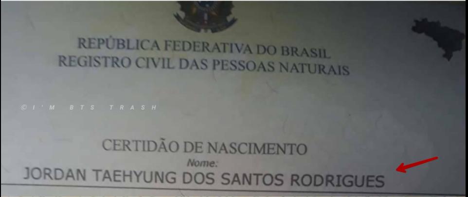 Una ARMY de Brasil ama tanto a BTS que le pone el nombre de uno de los integrantes a su hijo